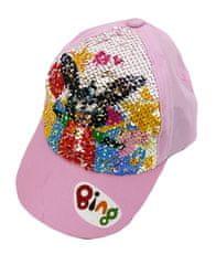 """SETINO Lány baseball sapka """"Bing"""" flitterekkel - világos rózsaszín"""