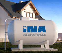 INA Slovenija Utekočinjeni naftni plin propan v plinohram količina 500 litrov