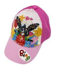 """SETINO Lány baseball sapka """"Bing"""" flitterekkel - rózsaszín"""