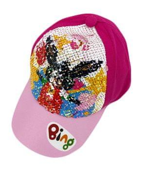 "SETINO Dekliška kapa s šiltom ""Bing"" z bleščicami - temno roza - 54 cm"