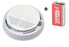 Secutek Požární hlásič a detektor kouře VIP-909 EN14604 + 9V baterie zdarma