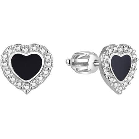 Beneto Ezüst szív fülbevalók AGUP1624S