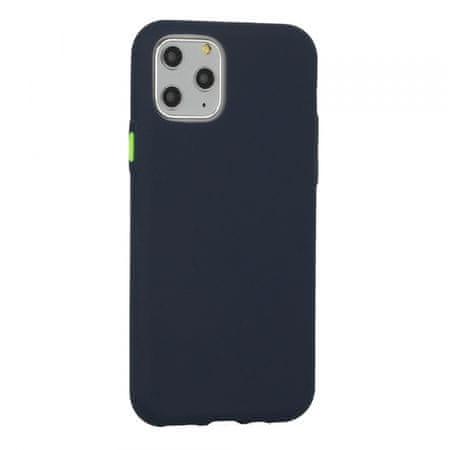 Neon ovitek za iPhone 12/12 Pro, silikonski, temno moder