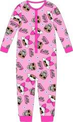 "Eplusm Dekliška bombažna pižama ""LOL"" - roza"