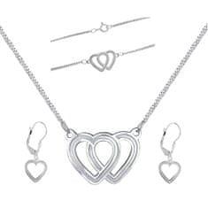 Praqia Gyönyörű ékszer szett Love la N6061_KA6063_NA6064 (nyaklánc, karkötő, fülbevaló)