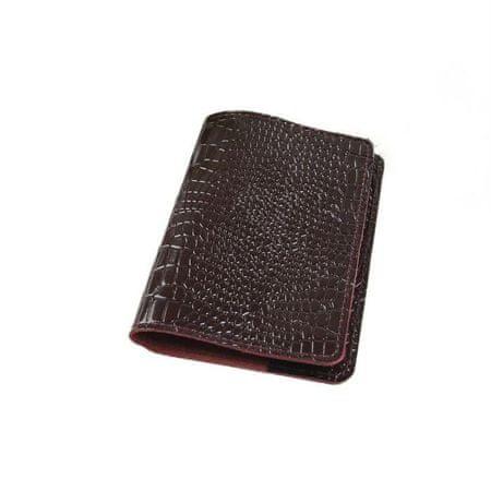 Kraftika Okładka paszportu, krokodyl, kolor wiśniowy