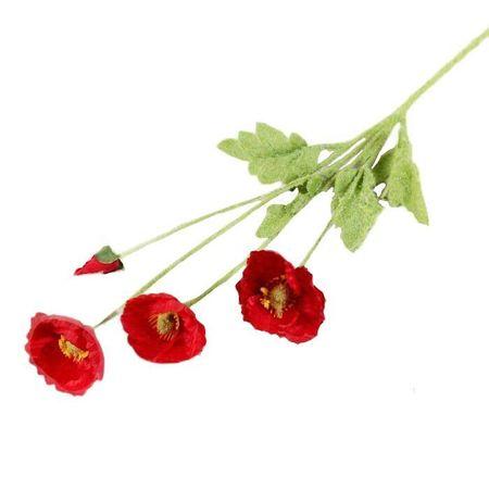 """Kraftika Sztuczne kwiaty """"pole maków"""" 5 * 58 cm, czerwony"""