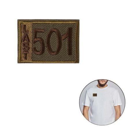 """Kraftika 10 jednostek naklejka """"ostatnie 501"""" 4,6 x 3,3 cm, khaki"""