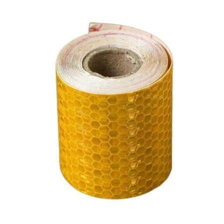 Kraftika Torzó fényvisszaverő szalag, öntapadó, sárga, 5 cm x 3 m