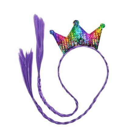 """Kraftika Carnival obejmy """"korona"""", z warkoczykami, kolor fioletowy"""