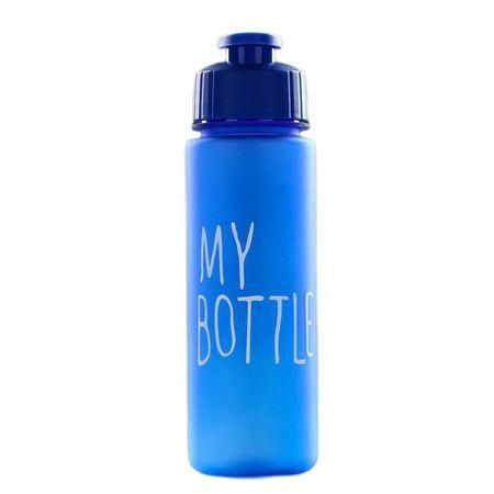 Kraftika Butelka wody, 500 ml, niebieski mat 6h21.5 cm