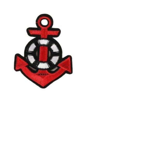 """Kraftika 10 ks, termopáska """"anchor"""", 7 × 5,5 cm, červená"""
