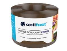 Cellfast Obruba plastová rovná hnědá 9 x 0,15 m