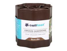 Cellfast Obruba plastová hnědá 9 x 0,15 m