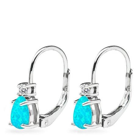 JVD Finom ezüst fülbevalók szintetikus opállal SVLE0855XH2O500