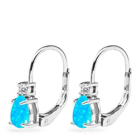 JVD Finom ezüst fülbevalók szintetikus opállal SVLE0855XH2O200