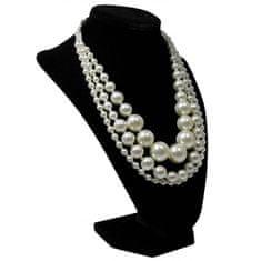 Lorenti Dámský korálkový náhrdelník Pearl Queen, bílý
