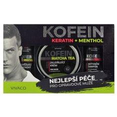 Vivapharm Darčeková kazeta keratín a kofeín pre mužov