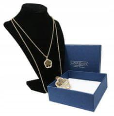 LOREN Dámsky náhrdelník s príveskom Flower Tree of life, zlatý