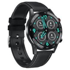 NEOGO SmartMove 5, chytré hodinky, černé/kožené