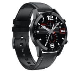NEOGO SmartMove 2, chytré hodinky, černé/kožené