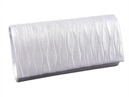 Kraftika 1db 1 fehér tengelykapcsoló táska / esti pénztárca fémes