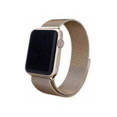 4wrist Ocelový milánský tah pro Apple Watch - Zlatý tmavý 38/40 mm