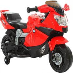Aku motor na baterije, crveni