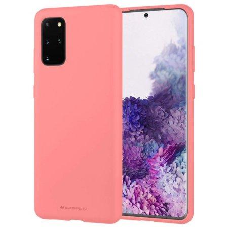 Goospery Soft Feeling ovitek za Samsung Galaxy S20, silikonski, pink