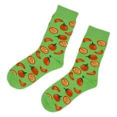Emi Ross Veselé ponožky Pomaranč, zelené 39-43