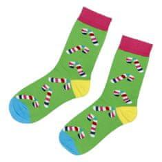 Emi Ross Ponožky Vianoce lízatko, zelené 39-43