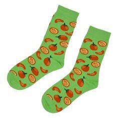 Emi Ross Veselé ponožky Pomaranč, zelené 35-39
