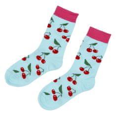 Emi Ross Veselé ponožky čerešne, modré 39-43