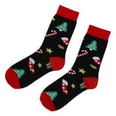 Emi Ross Ponožky Vianočný stromček, čierne 39-43