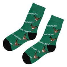 Emi Ross Ponožky Sob Rudolph, zelené 39-43