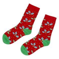 Emi Ross Ponožky Vianoce lístočky, červené 35-39