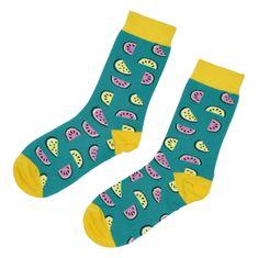 Emi Ross Veselé ponožky Melón, zelené 35-39