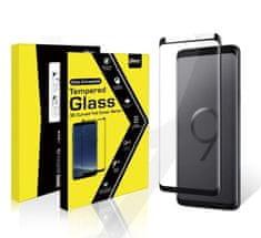 VMAX Ochranné tvrzené sklo na displej pro Samsung Galaxy S9 + oranžový rámeček