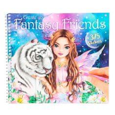 Top Model Kreatívny zošit , Fantasy Friends, 375 samolepiek
