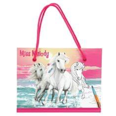 Miss Melody omalovánka | Blok s uškami a viacfarebnou pastelkou Miss Melo, omalovánka | Blok s uškami a viacfarebnou pastelkou