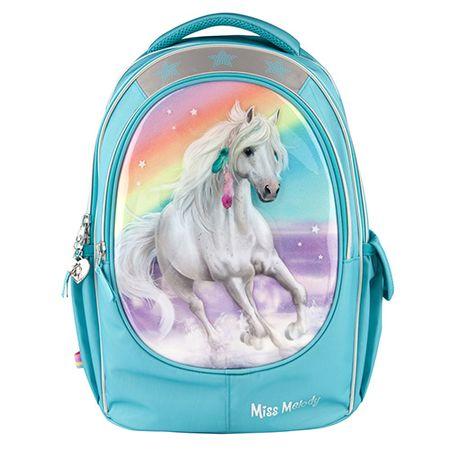 Miss Melody iskolai hátizsák, Csillogó szivárvány,