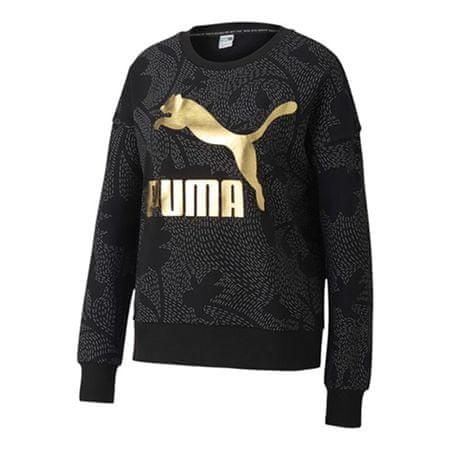 Puma Classics Graphics AOP Crew Sweat, 597728 | 01 | Nő | fekete | XS
