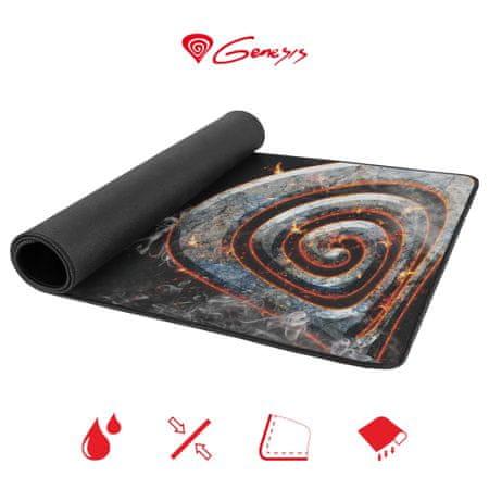 Genesis Carbon 500 Maxi Lava gaming podloga, vodoodporna, 900 x 450 mm