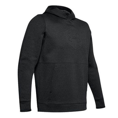 Under Armour Bluza z kapturem Athlete Recovery Fleece Graphic Hoodie-B, Mężczyźni Bluzy męskie Bluzy męskie czarny L