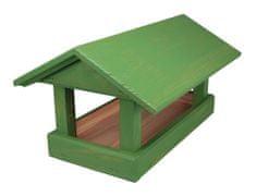 Forestina Krmítko dřevěné zelené 24 x 40 x 20 cm