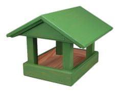 Forestina Krmítko dřevěné zelené 24 x 30 x 20 cm