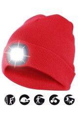 Velamp čiapka CAP08 s LED svetlom červená