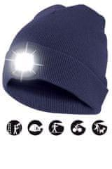 Velamp čiapka CAP04 s LED svetlom modrá