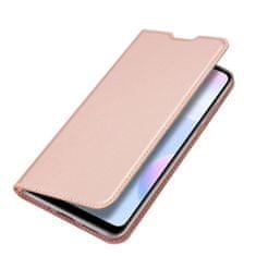Dux Ducis Skin Pro knižkové kožené puzdro na Xiaomi Redmi 9A, ružové