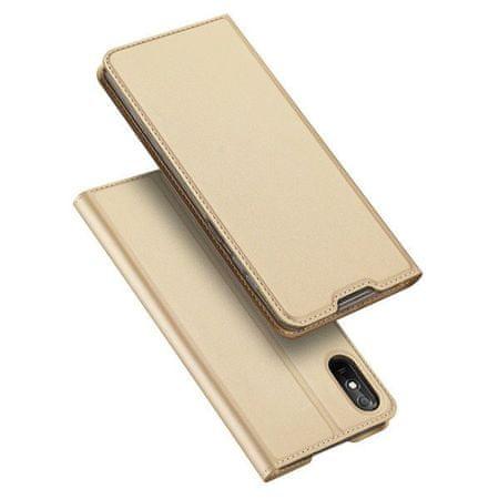 Dux Ducis Skin Pro bőr könyvtok Xiaomi Redmi 9A, arany